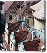 Rooftops Of Prague In Czechia Europe Canvas Print