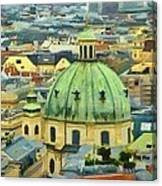 Rooftops Of Vienna Canvas Print