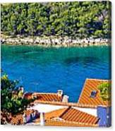 Rooftops Sea And Stone Islands Canvas Print