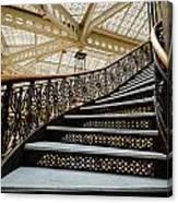 Rookery Building Atrium Staircase Canvas Print