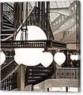 Rookery Building Lights Canvas Print