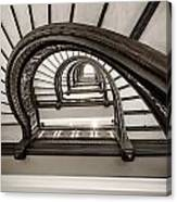 Rookery Building Off Center Oriel Staircase Canvas Print