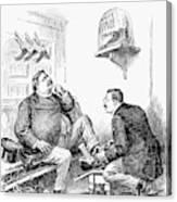 Roosevelt-taft Cartoon Canvas Print