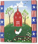 Rooster Americana Canvas Print