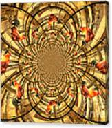 Crowing Rooster Kaleidoscope Canvas Print