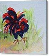 Rooster - Red And Black Rooster Canvas Print