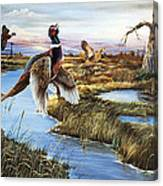 Roosters Rising Canvas Print