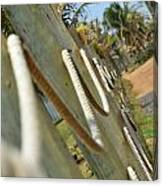 Rope Barrier Canvas Print