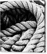 Rope Black And White Canvas Print