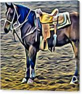 Ropin Horse Canvas Print