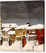 Roros In Winter - Norway Canvas Print