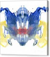 Rorschach Type Inkblot Canvas Print