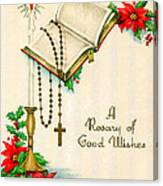 Rosary Good Wishes Canvas Print