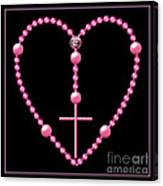 Rosary With Pink And Purple Beads Canvas Print