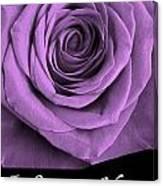 Rose 5 I Love You Canvas Print
