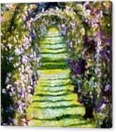 Rose Arch In Summer Sunshine Canvas Print