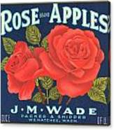 Rose Brad Apples Crate Label Canvas Print