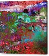 Rose Bridge Landscape Canvas Print