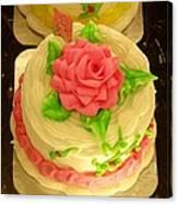 Rose Cakes Canvas Print