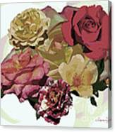 Rose Collage Canvas Print