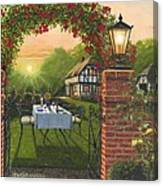 Rose Cottage - Dinner For Two Canvas Print