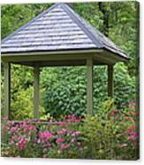 Rose Garden Gazebo Canvas Print