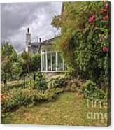 Rose Garden Near Cottage In England Canvas Print
