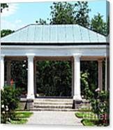 Rose Garden Pergola In Delaware Park Buffalo Ny Oil Painting Effect Canvas Print