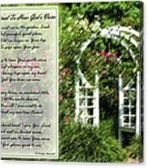 Rose Garden Prayer Canvas Print