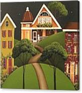 Rose Hill Lane Canvas Print