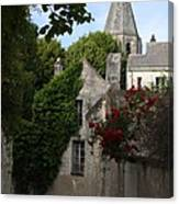 Rose Lane In Loches Canvas Print