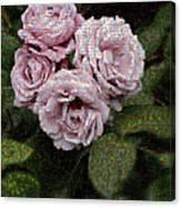 Rose Mosaic 1 Canvas Print