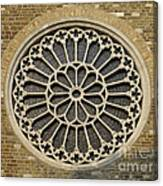 Rose Of The Cathedral Of San Giusto Canvas Print