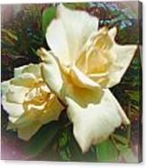 Rose Oval Canvas Print