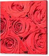 Rose Swirls Canvas Print