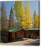 Rose Twin 1 And Twin 2 Cabins At The Holzwarth Historic Site Canvas Print