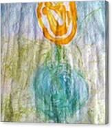 Rose Vase One Canvas Print