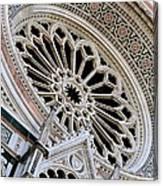 Rose Window Duomo Florence Canvas Print