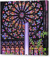 Rose Window Of St Vincent Canvas Print