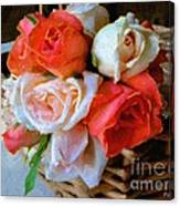 Roses Florentine Canvas Print