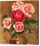 Roses In A Pot Canvas Print