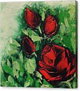 Roses In The Hedge Canvas Print