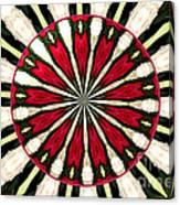 Roses Kaleidoscope Under Glass 17 Canvas Print