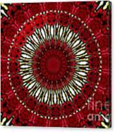 Roses Kaleidoscope Under Glass 18 Canvas Print