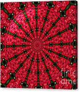 Roses Kaleidoscope Under Glass 24 Canvas Print