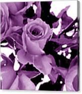 Roses - Lilac Canvas Print
