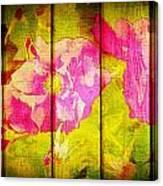 Roses On Wood Canvas Print