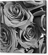 Roses On Your Wall Black And White  Canvas Print