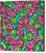 Roses Pattern Canvas Print