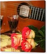 Guitar 'n Roses Canvas Print